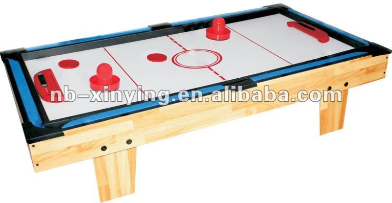 Wooden 3 in 1 table game including pool table air hockey for 10 games in 1 table
