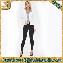 Women blazer open front design womens polyester jacket
