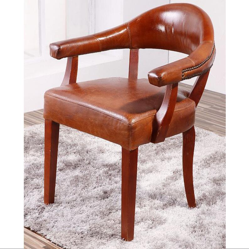 Club bois massif jambes vintage en cuir kennedy fauteuil - Fauteuil de bureau solide ...