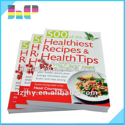 personal design cooking books printing with good price