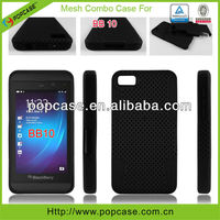 pc+silicone cases for blackberry z10 mobile phone