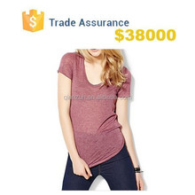 Custom Fashion Cheap Women's V-Neck T-Shirts
