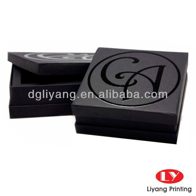 New products for 2015- black gift packaging box with spot UV