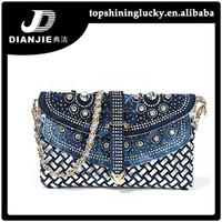 Popular shoulder bag rhinestone denim sling bags wholesale