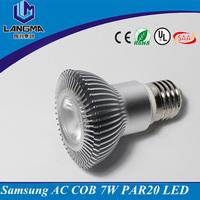 Langma 120V 230V 2700K 7watt dimmable e27 cob bulb, par 20 led light bulbs