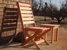 Wooden Largo folding chair (Saligna)