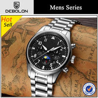 10atm water resistant chronograph stainless steel back geneva quartz watches