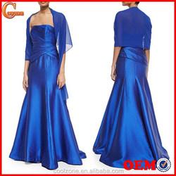 Strapless neck crisscross bodice gown dresses women long evening gown