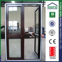 Promotional prices UPVC red woood color upvc door panel