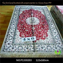 china manufacturer star hotel decor front desk modern persian handmade art silk rug