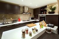L shape stains resistant 1.6cm , 1.8cm thick faux marble table countertop