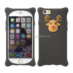 ECO-Friendly Christmas promotion reinfore silicone mobile phone case for 6