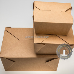take away food grade paper box for noodle meal lunch