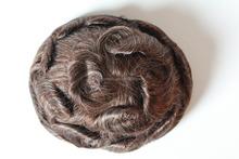 2015 new arrival 8*9 add grey hair quality virgin human hair mens toupee