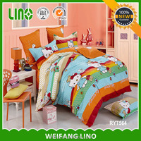 children bedding set cartoon/kids cartoon bedding set/cat print bedding set children