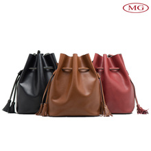 leather factory wholesale popular design genuine leather tote bag print your logo