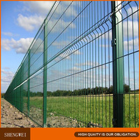 Green clearvu welded wire mesh fence panel