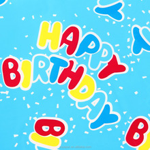 With birthday series designs for gift custom printed wrapping paper
