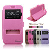 Two Window flip cell phone case for samung Galaxy Core I8262