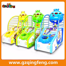 Qingfeng hot sale kids basketball machine coin operated basketball shooting games