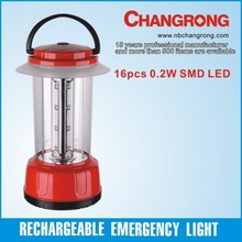 hand crank 16 smd led battery camping lantern with EU plug charger