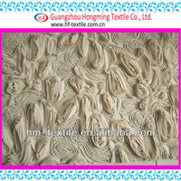 New Arrival Pleated Chiffon Rosette Coiling Fabric for Maxi Dress