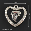 New NFL Team Logo Charms Rhinestone Heart Atlanta Falcons Sport Charms