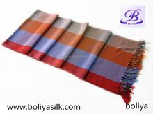 Plaid pattern pashmina scarf and shawl