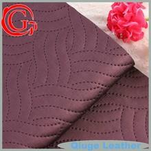 Yiwu Qiuge Leather STITCH hot sale raw material modern sofa pvc leather