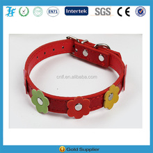 Red Teddy pet dog collars products Adjustable pet collars wholesale
