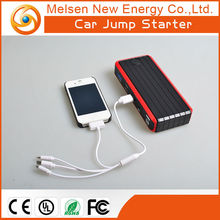 2015 Best selling car accessories lithium battery power bank jump starter for car 12V two usb port