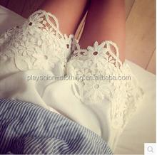 2015 european style pretty lace hem design summer leisure women hot shorts