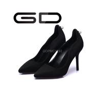 GD 2015 Fantastic wonderful new fresh design rhinestone decorated simple elegant suede upper shoes for special mature ladies