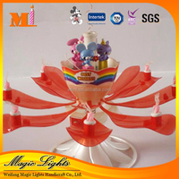 Children Favorite Doll Rose Flower Music Birthday Candle