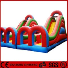 New design wet/dry inflatable slide and slip combo