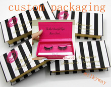 Milkyway top seller short strip mink fur lashes make up eyelashes custom eyelash box