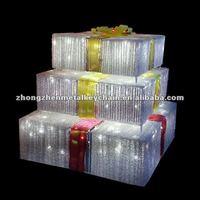 acrylic decorative led christmas gift box