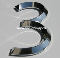 raised metal letter and number lights
