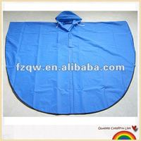 Comfortable and fashionable semi-circle PVC rain poncho