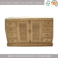 reclaimed elm wood furniture french sideboard