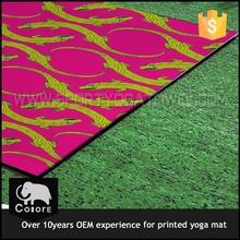Fashion fabric printed pvc earthing yoga mat