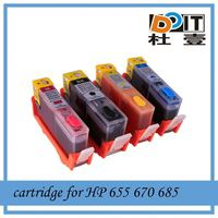 Hot selling in Asia-Pacific refill ink cartridge for HP Deskjet Ink Advantage 3525 with 4 colors