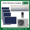 Split wall mounted DC48V 100% solar powered air conditioner cop