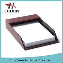 Letter tray teal leather blue full grain leather from china