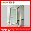 America Style Standard Aluminum Single Tempered Glass Casement Windows With Blinds Hot Sale