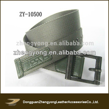 2014 Men's army Green nylon Fabric belts,new design nylon fabric belts