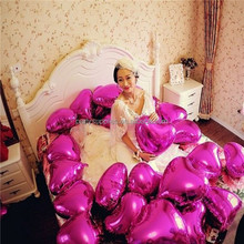 Romantic Wedding Party Decoration Balloons Heart Shape Celebration Balloons Pink Red Purple Wedding Balloon