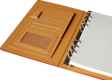 notebook with photo holder clip/mirror holder clips for 2016 new year gift