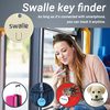 Shenzhen led smart key finder locator key chain ring whistle keychain finder alarm system sound control