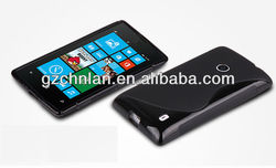 Very popular soft s line wave gel case cover for nokia lumia 520